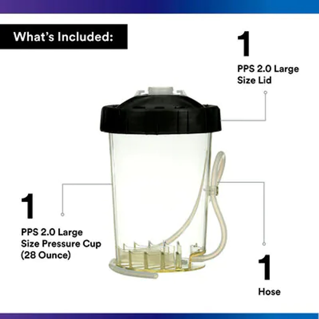 3M™ PPS™ Series 2.0 Type H/O Pressure Cup, 26124, Large/Standard