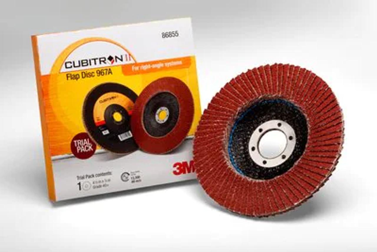 3M™ Cubitron™ II Flap Disc 967A, 40+, T27, 4-1/2 in x 7/8 in
