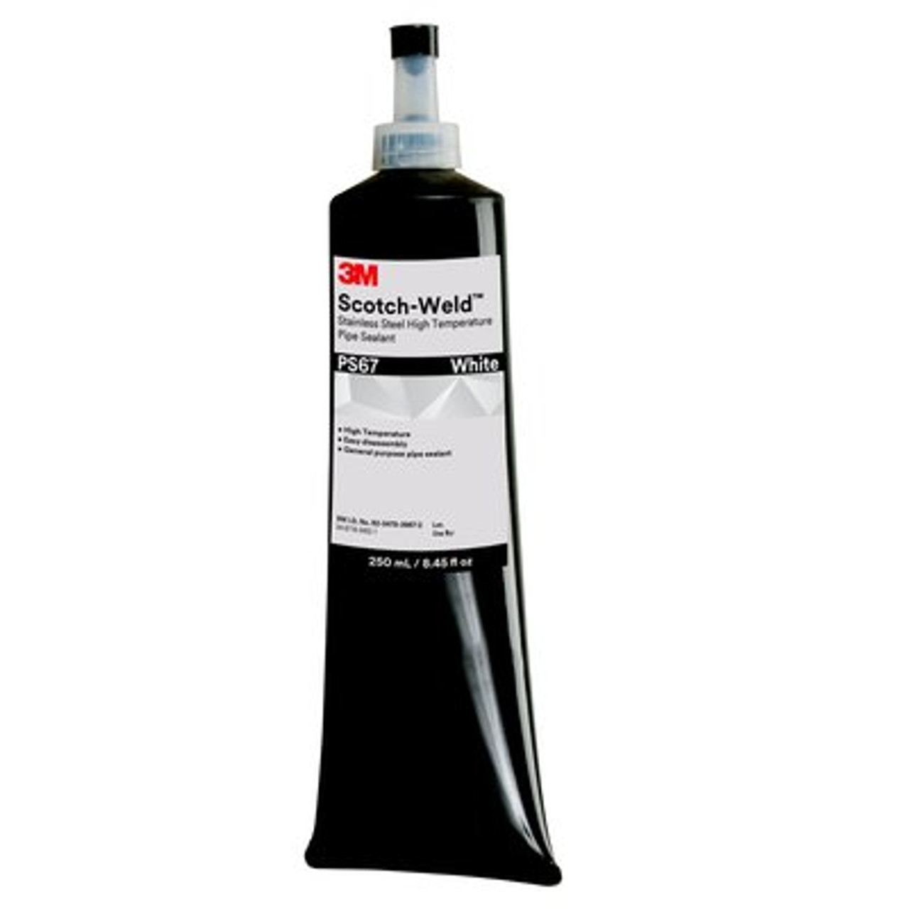 3M™ Scotch-Weld™ Stainless Steel High Temperature Pipe Sealant PS67, White, 250 mL Tube