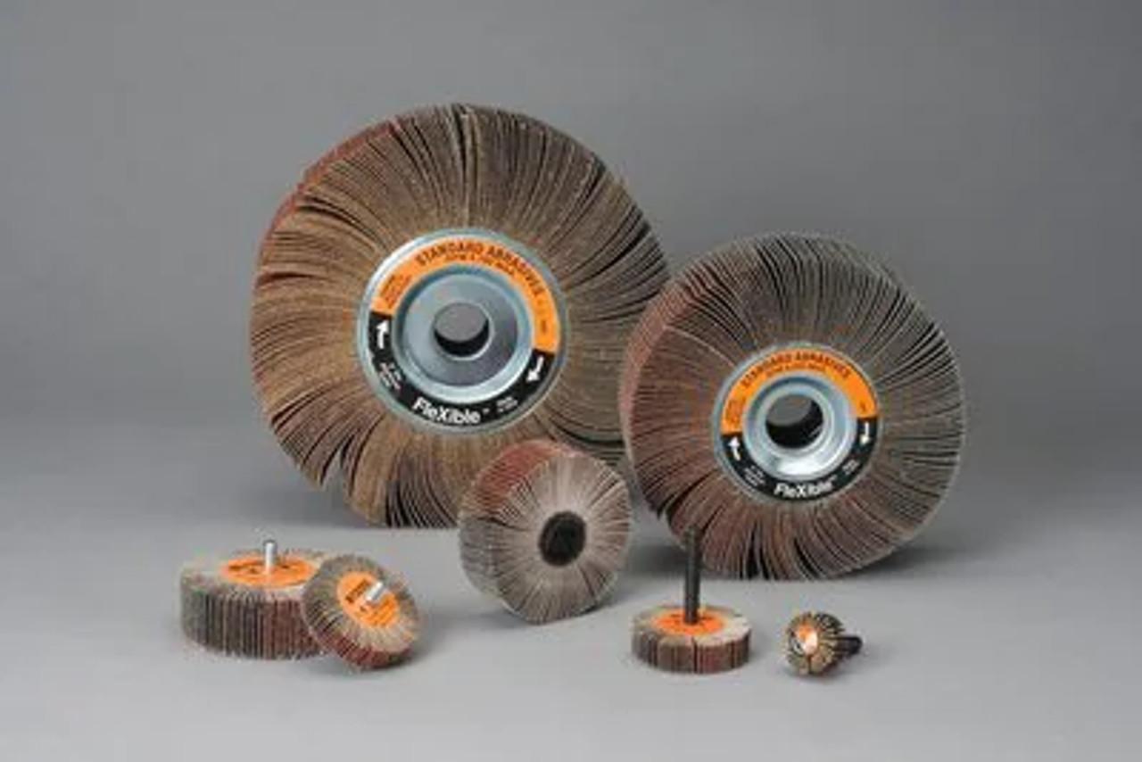 Standard Abrasives™ A/O Flexible Flap Wheel 615425, 3 in x 1 in x 1/4 in 60