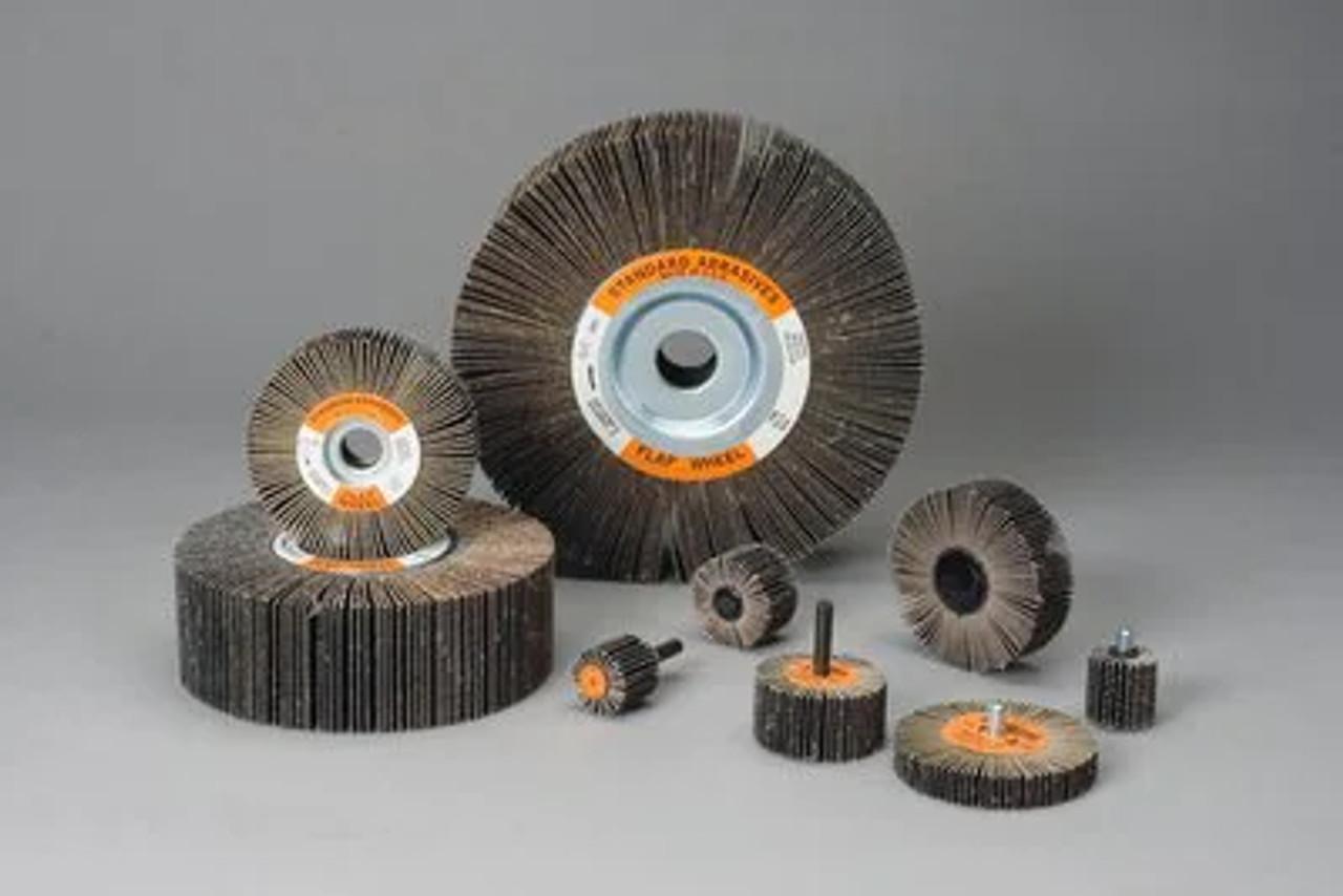 Standard Abrasives™ A/O Flap Wheel 611105, 1 in x 1/2 in x 1/4 in 60