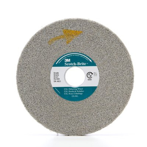 Scotch-Brite™ EXL Deburring Wheel, 6 in x 1/2 in x 1 in 8A MED