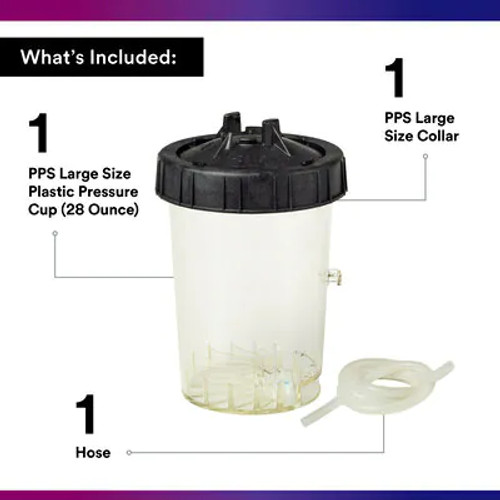 3M™ PPS™ Type H/O Pressure Cup, 16124, Large, 1 cup per box, 2 boxes per case