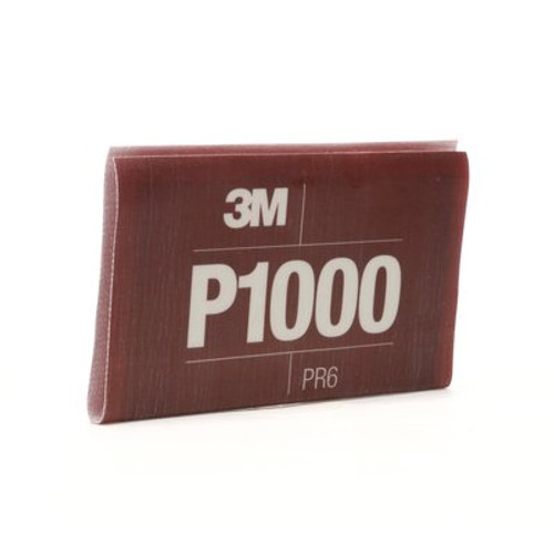 3M™ Flexible Abrasive Hookit™ Sheet, 34341, 5.5 in x 6.8 in, P1000, 25 sheets per box, 5 boxes per case