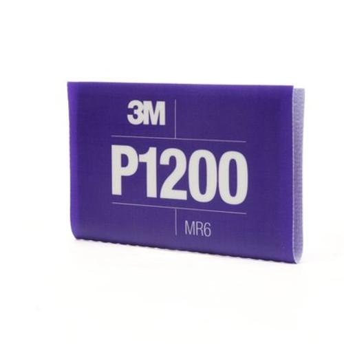 3M™ Flexible Abrasive Hookit™ Sheet, 34342, 5.5 in x 6.8 in, P1200, 25 sheets per box, 5 boxes per case