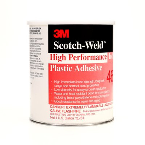 3M™ Scotch-Weld™ High Performance Industrial Plastic Adhesive 4693 Light Amber, 1 gal