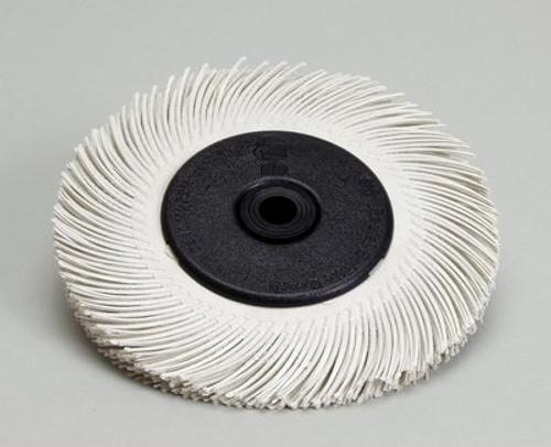 Scotch-Brite™ Radial Bristle Brush, 7 5/8 in x 1 in x 1 -1/4 in 120 T-C with Flange, 2 per case