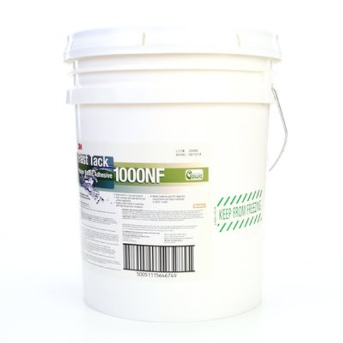 3M™ Fast Tack Water Based Adhesive 1000NF, Neutral, 5 Gallon Pail, 1 per case *Price is per gallon*