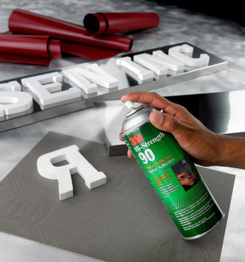 3M™ Hi-Strength 90 Cylinder Spray Adhesive, Clear, Intermediate Cylinder (Net Wt 141.6 lb)