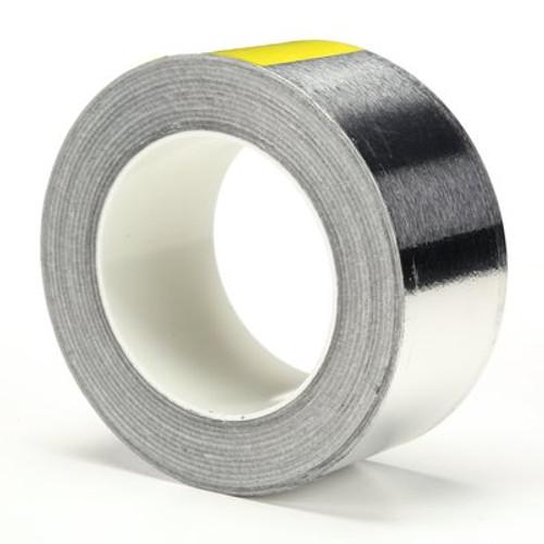 3M™ Conductive Aluminum Foil Tape Silver 3302 Silver, 2 in x 36 yd 3.6 mil Plastic Core, 24 rolls per case