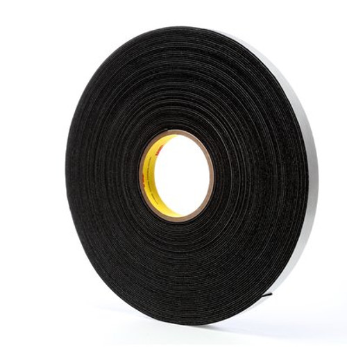 3M™ Vinyl Foam Tape 4516 Black, 3/4 in x 36 yd
