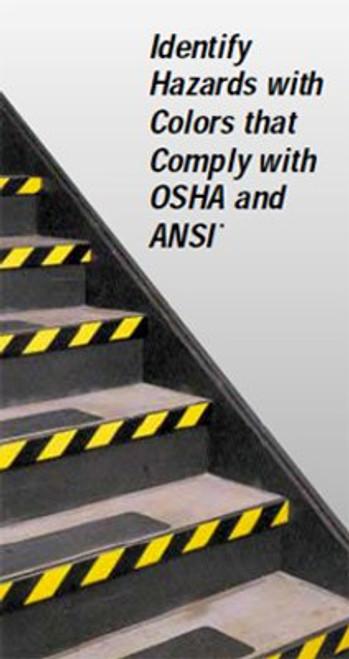 3M™ Safety Stripe Tape 5702 Black/Yellow, 1 in x 36 yd 5.4 mil, 36 per case Bulk