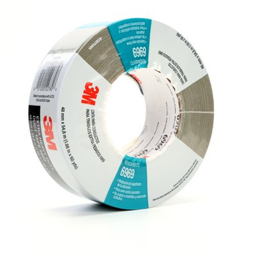 3M™ Extra Heavy Duty Duct Tape 6969 Olive, 48 mm x 54.8 m 10.7 mil, 24 individuallly wrapped rolls per case, Conveniently Packaged