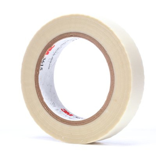 3M™ General Purpose Glass Cloth Tape 3615 White, 1 in x 36 yd 7.0 mil, 36 per case Bulk