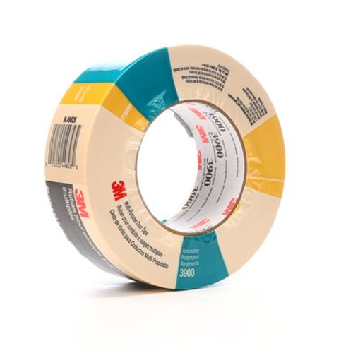 3M™ Multi-Purpose Duct Tape 3900 Yellow, 48 mm x 54.8 m 8.1 mil, 24 per case Individually Wrapped