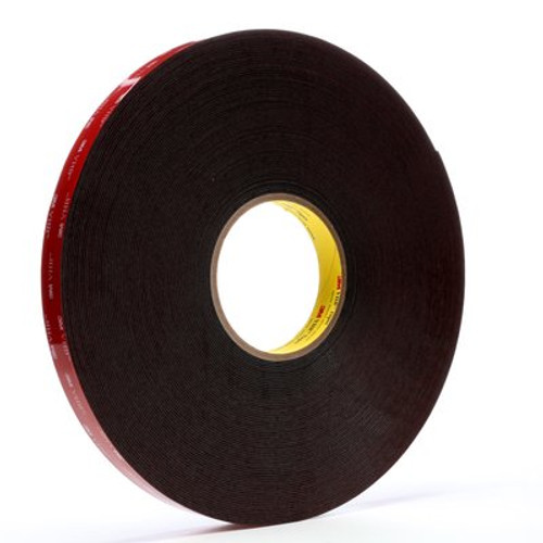 3M™ VHB™ Heavy Duty Mounting Tape 5952 Black, 3/4 in x 15 yd 45.0 mil