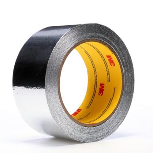 3M™ Aluminum Foil Tape 4380 Silver, 2 in x 55 yd 3.25 mil, 24 rolls per case