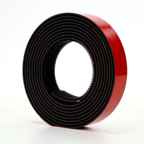 3M™ Dual Lock™ Reclosable Fastener TB3870 250/250 Black, 1 in x 10 ft mated strip