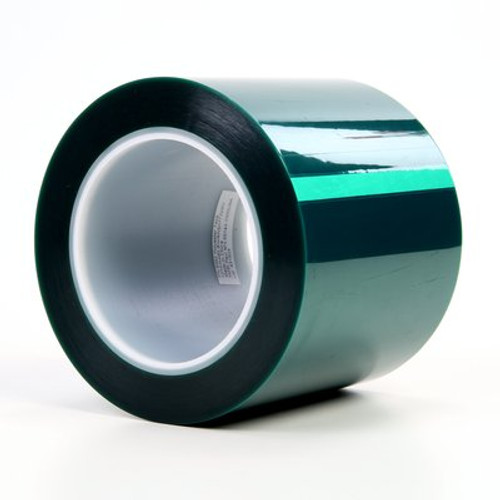 3M™ Polyester Tape 8992 Green, 4 in x 72 yd 3.2 mil, 8 rolls per case Bulk