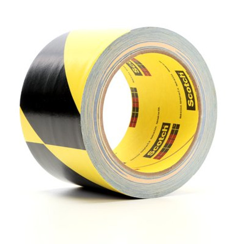 3M™ Safety Stripe Tape 5702 Black/Yellow, 3 in x 36 yd 5.4 mil,12 Individually Wrapped Conveniently Packaged