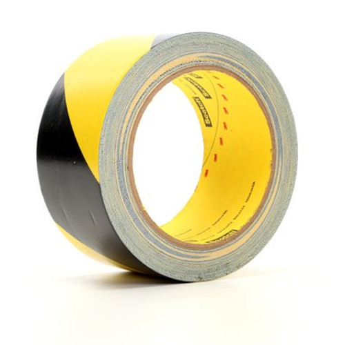 3M™ Safety Stripe Tape 5702 Black/Yellow, 2 in x 36 yd 5.4 mil, 24 Individually Wrapped Conveniently Packaged