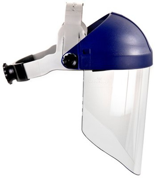 3M™ Ratchet Headgear H8A, Head and Face Protection 82783-00000, with 3M™ Clear Polycarbonate Faceshield WP96 5 ea/cs