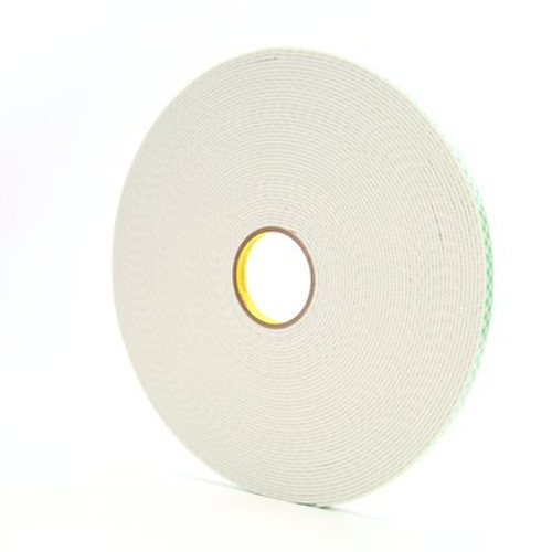 3M™ Double Coated Urethane Foam Tape 4008 Off-White, 1/2 in x 36 yd 1/8 in