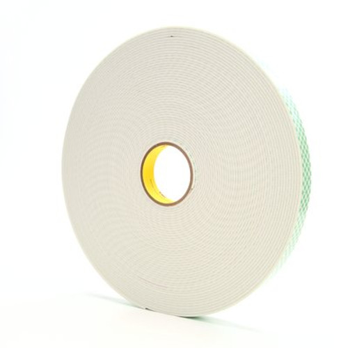3M™ Double Coated Urethane Foam Tape 4008 Off-White, 1 in x 36 yd 1/8 in