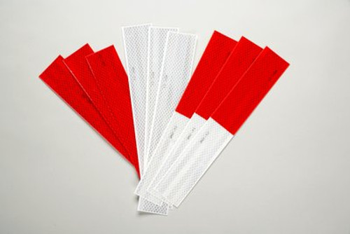 3M™ Diamond Grade™ Conspicuity Markings 983-326, Red/White, DOT, 2 in x 12 in