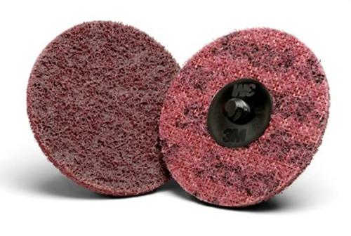 Scotch-Brite™ Roloc™ AL Surface Conditioning Disc TR, 3 in x NH A CRS, 25  100 per case