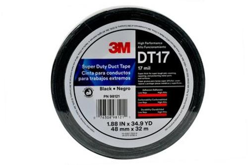 "3M™ Super Duty Duct Tape DT17 Black, (2"") 48 mm x 32 m 17 mil, 24 rolls per case"