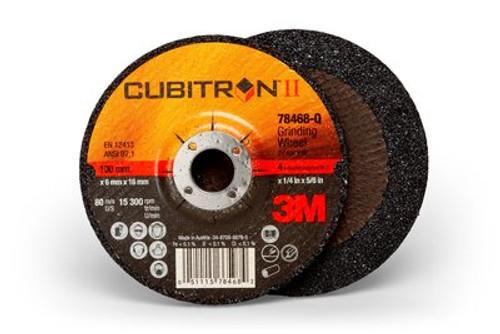 3M™ Cubitron™ II Depressed Center Grinding Wheel T27, (78468-Q), 4 in x 1/4 in x 5/8 in, 10 , 20 per case
