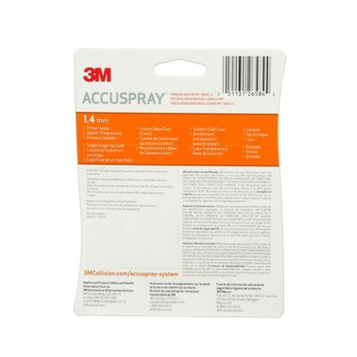 3M™ Accuspray™ Refill Pack for PPS™ Series 2.0, 26584, Orange, 1.4 mm, 5 per case
