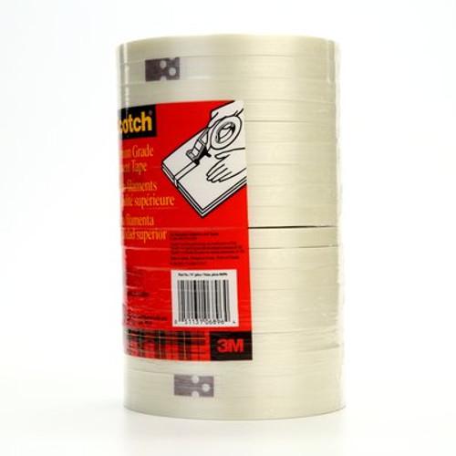 Scotch® Filament Tape 898 Clear, 12 mm x 55 m