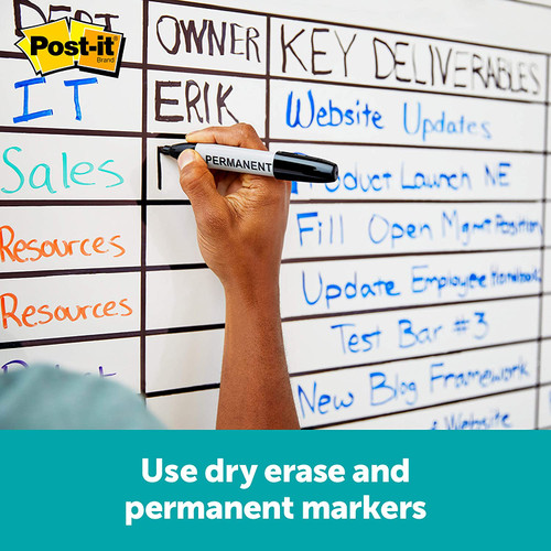 Post-it® Flex Write Surface, The Permanent Marker Whiteboard Surface