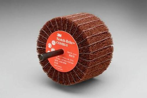 Scotch-Brite™ Combi-S Wheel 80799, 3 in x 1-3/4 in 1/4 in Shank P180 X-weight, 10 per case