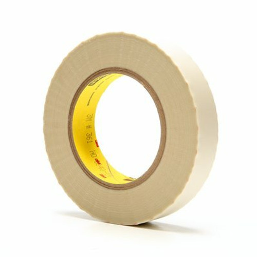 3M™ Glass Cloth Tape 361, White, 1 in x 60 yd, 6.4 mil