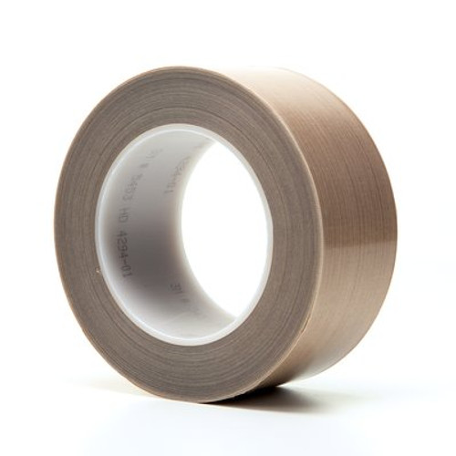 3M™ PTFE Glass Cloth Tape 5453 Brown, 2 in x 36 yd 8.3 mil Boxed