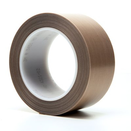 3M™ PTFE Glass Cloth Tape 5451 Brown, 2 in x 36 yd 5.3 mil Boxed