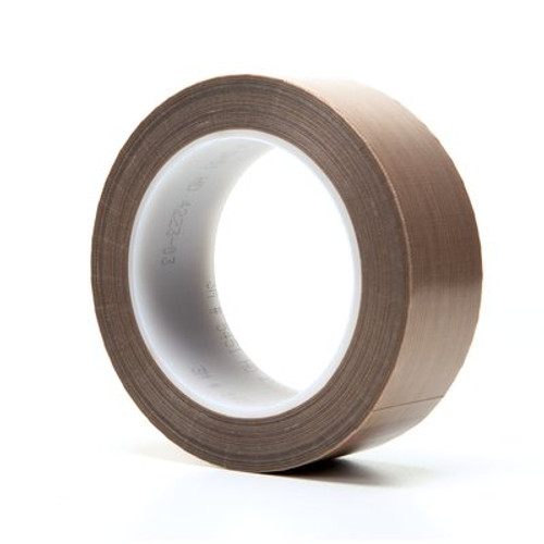 3M™ PTFE Glass Cloth Tape 5451 Brown, 1-1/2 in x 36 yd 5.6 mil Boxed