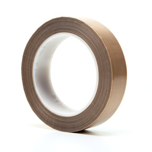 3M™ PTFE Glass Cloth Tape 5451 Brown, 1 in x 36 yd 5.3 mil Boxed