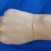 14K three princess diamond bracelet
