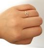 Yellow Gold Triangle Diamond Ring