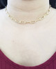 14K Gold Filled Elongated Choker Necklace