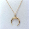 14K Yellow Gold Tooth Tusk Charm Necklace