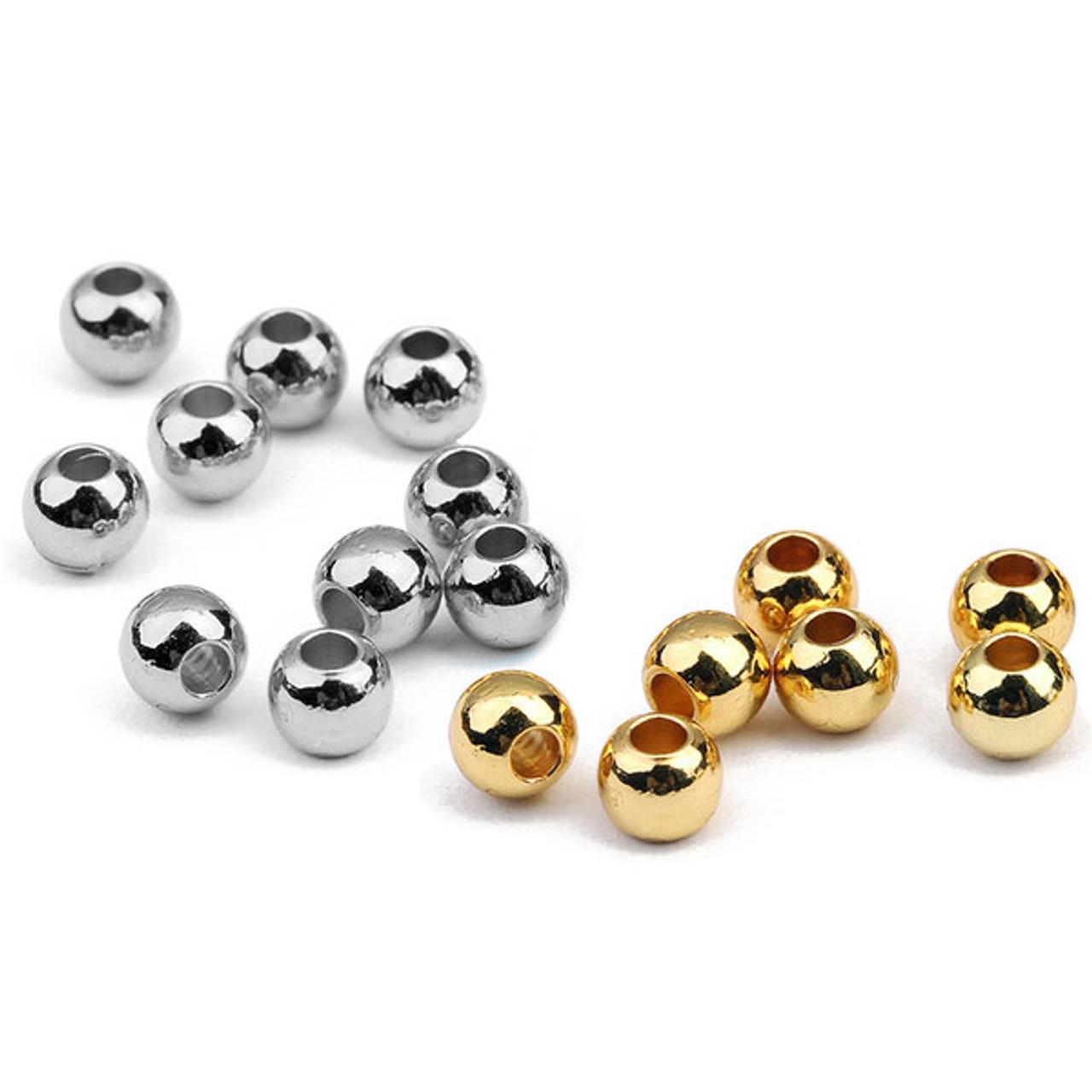 6mm 14 Karat Yellow Gold Round Bead Ball Stud Earrings