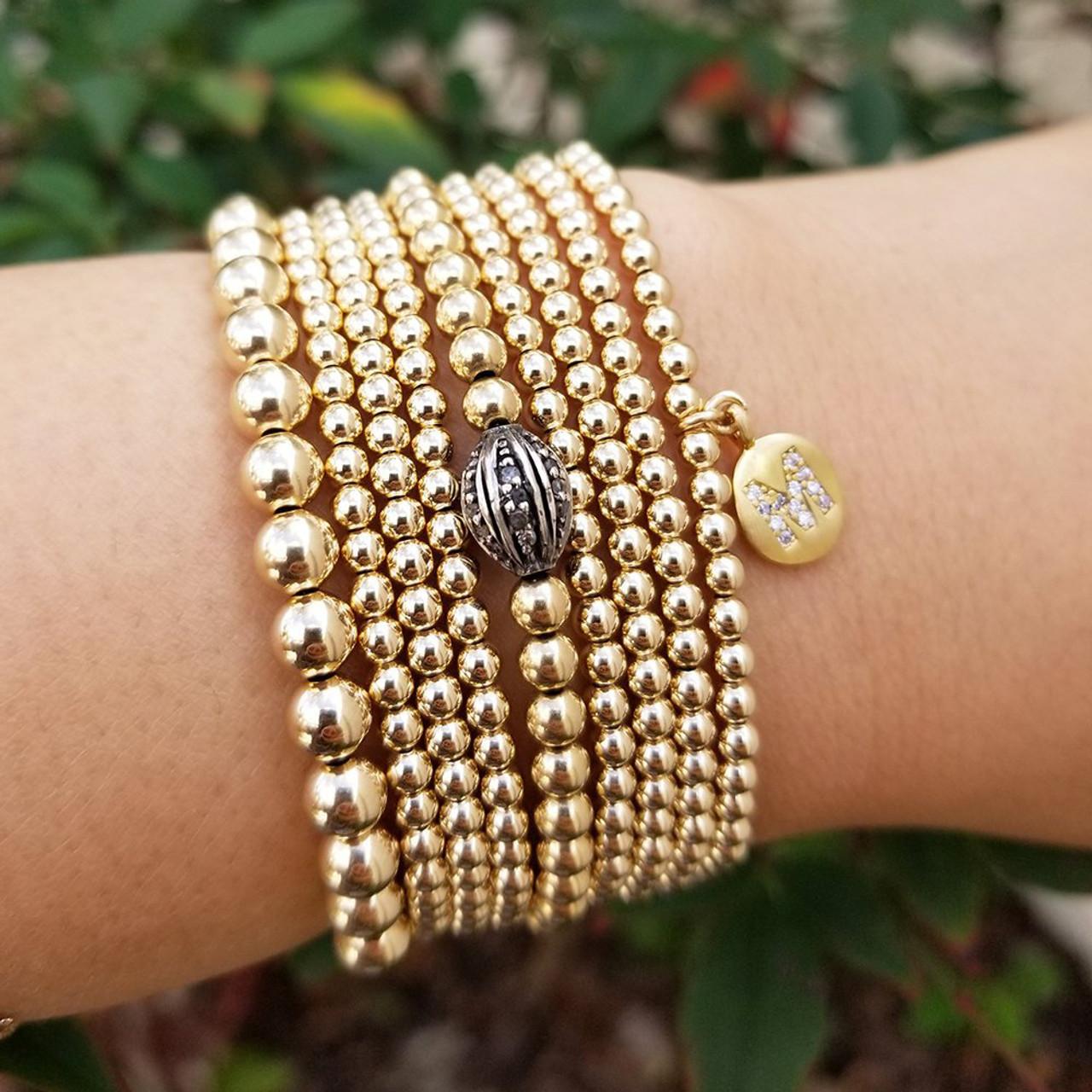 f1cfd35c0cd Gold Filled Ball Bracelet, Bead Bracelet
