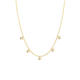 New Drop bezel diamond necklace 14K Gold