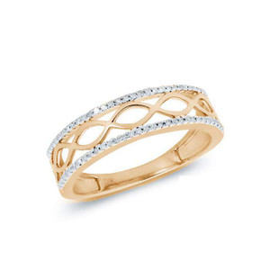 Diamond Fancy Engagement Band 14KY Gold