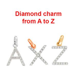 Diamond Initial Charm
